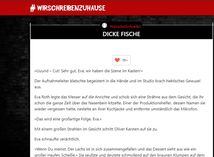 """Kurzgeschichte """"Dicke Fische"""" – Evas Geheimnis(Thriller)"""